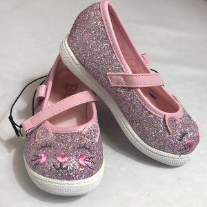 BC FootwearToddler pink Glitter Kitten Mary Janes